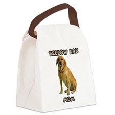 Yellow Lab Mom Canvas Lunch Bag