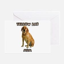Yellow Lab Mom Greeting Card