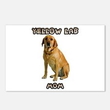 Yellow Lab Mom Postcards (Package of 8)