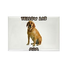 Yellow Lab Mom Rectangle Magnet
