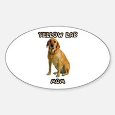 Yellow Lab Mom Decal