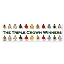 Triple Crown Bumper Bumper Sticker