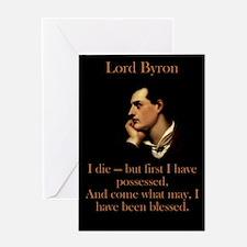 I Die - Lord Byron Greeting Card