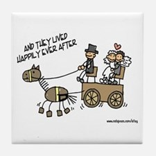 They Lived Happily Ever After Tile Coaster