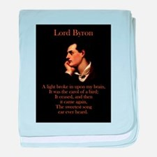 A Light Broke - Lord Byron baby blanket