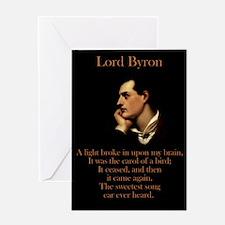 A Light Broke - Lord Byron Greeting Card