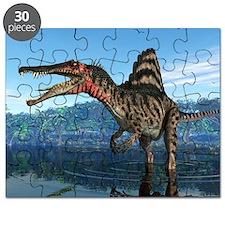 Spinosaurus dinosaur, artwork - Puzzle
