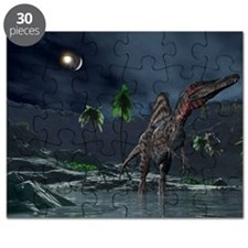 Spinosaurus witnessing a lunar impact - Puzzle