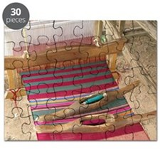 Various threads on weaving loom - Puzzle