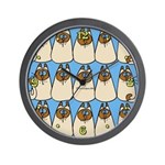 Siamese Kitties Wall Clock