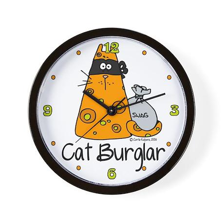 Cat Burglar Wall Clock