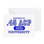 .45 ACP University Pistol Greeting Cards (Package