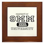 9mm University Pistol Framed Tile