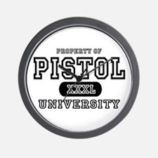 Pistol University Handgun Wall Clock