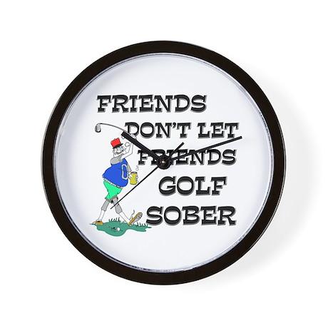 Friends Golf Sober Wall Clock