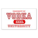 Vodka University Rectangle Sticker