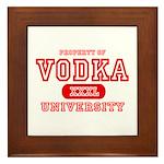 Vodka University Framed Tile