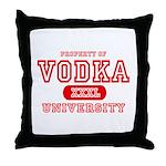 Vodka University Throw Pillow