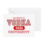 Vodka University Greeting Cards (Pk of 10)