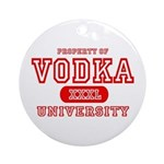 Vodka University Ornament (Round)