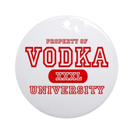 Vodka University Ornament (Round)