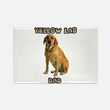 Yellow Lab Dad Rectangle Magnet