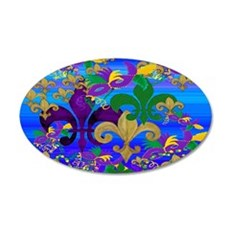 Mardi Gras Psycadelic Wall Decal