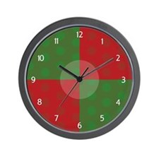 Green and Red Dots Clock