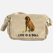 Yellow Lab Life Messenger Bag