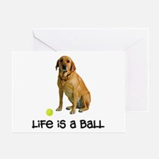 Yellow Lab Life Greeting Card
