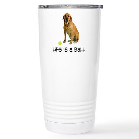 Yellow Lab Life Stainless Steel Travel Mug