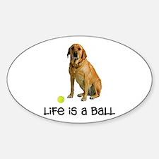 Yellow Lab Life Sticker (Oval)