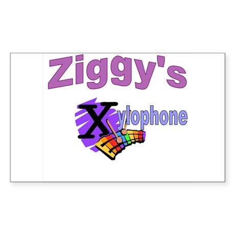 Ziggy's xylophone Sticker (Rectangle)