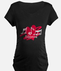 Personalized Music and love hearts T-Shirt