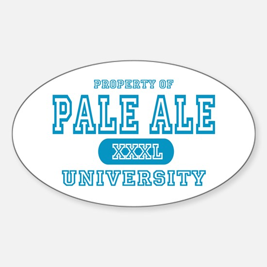 Pale Ale University IPA Oval Decal