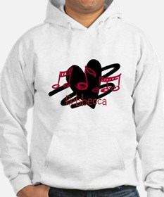 Personalized Musical notes love heart Hoodie