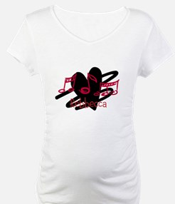 Personalized Musical notes love heart Shirt