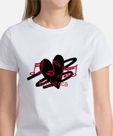 Personalized Musical notes love heart Tee