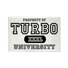 Turbo University Property Rectangle Magnet