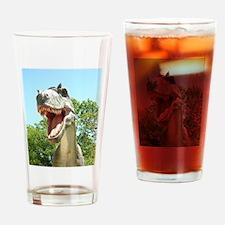 Dinosaur T-Rex Drinking Glass
