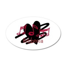 Personalized music and love hearts design Wall Sticker