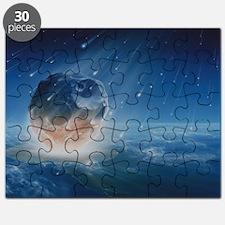 Artwork showing Chicxulub impact event - Puzzle