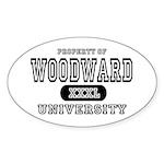 Woodward University Property Oval Sticker