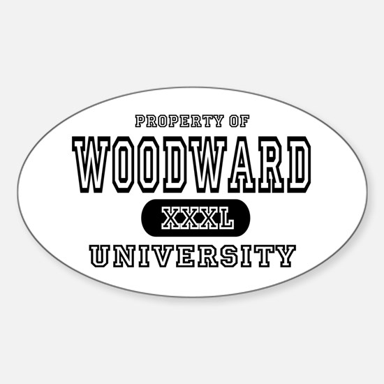 Woodward University Property Oval Decal