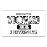 Woodward University Property Rectangle Sticker