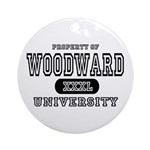 Woodward University Property Ornament (Round)