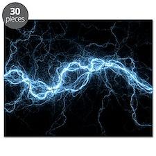 Bolt of lightning, computer artwork - Puzzle
