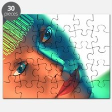 Biometric identification, artwork - Puzzle