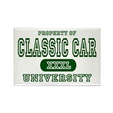 Classic Car University Property Rectangle Magnet