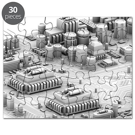 Circuit board, artwork - Puzzle